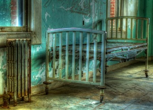 Old bed in Preston Castle Dormitory