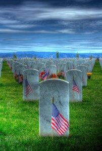 Graves at Sacramento Valley National Veteran's Cemetery
