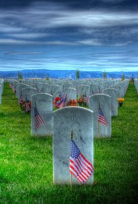 Graves at Sacramento Valley National Veteran's Cemetery