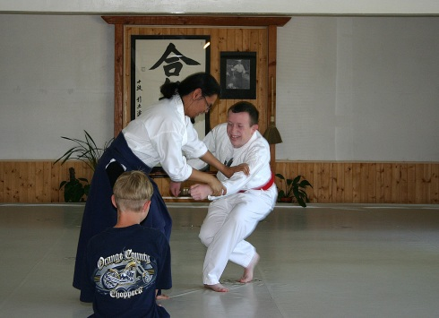 Justin practicing Aikido