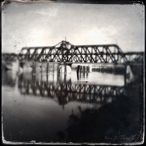 The I Street Bridge has spanned the Sacramento River for 100 years.  The steel double-decker swing bridge was built by Southern Pacific Railroad and continues to carry trains and automobiles across the river to this day.  The bridge swings open for larger boats to go up and down the river.
