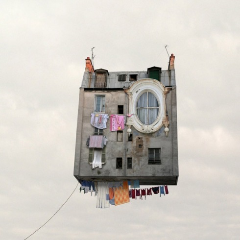 "From ""Flying Houses"" by Laurent Chehere, 2012."