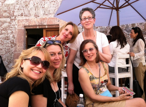 From left to right: Hollye Dexter, Cheryl Strayed, Jody Kobak Feagan, Amy Ferris, Sarah Stonich.