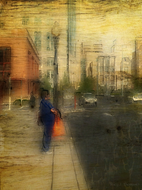 """""""The Orange Bag"""" - ©Tracy J. Thomas, 2013. All rights reserved."""