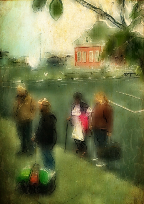 """""""Waiting to Board"""" - ©Tracy J. Thomas, 2013. All rights reserved."""