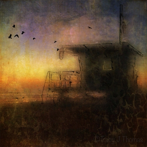"""""""The Lifeguard Shack"""" - ©Tracy J. Thomas, 2013. All rights reserved."""