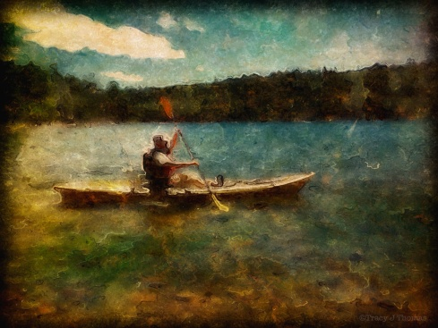 """The Paddler"" - ©Tracy J. Thomas, 2013. All rights reserved."