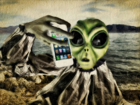 """Phone Home?"" - ©Tracy J. Thomas, 2013. All rights reserved."