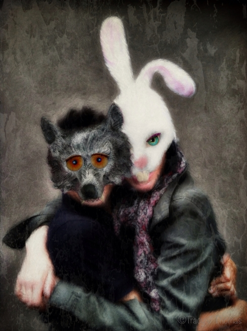 """The Rabbit and the Wolf"" - ©Tracy J. Thomas, 2013. All rights reserved."