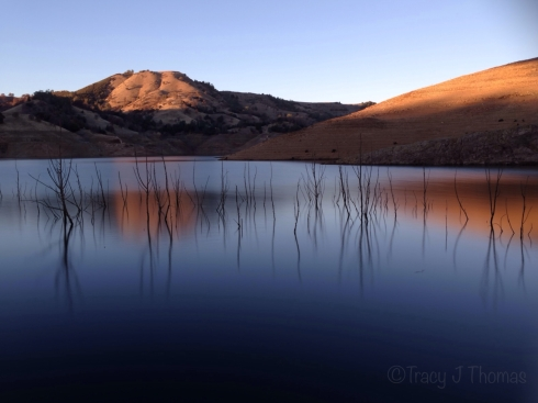 """New Melones Sunset"" - ©Tracy J. Thomas, 2013-2014. All rights reserved."