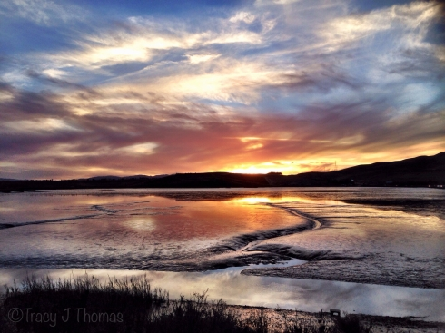 """""""Tidal Plane Sunset"""" - ©Tracy J. Thomas, 2013-2014. All rights reserved."""
