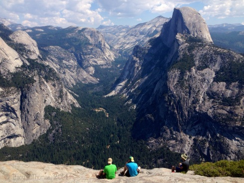 The view of Half Dome and Yosemite Valley from on top of Glacier Point. Yosemite National Park. ©Tracy J Thomas, 2014. All rights reserved.